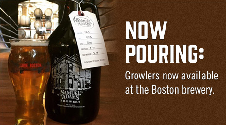 Now Pouring: Growlers now available at the Boston brewery