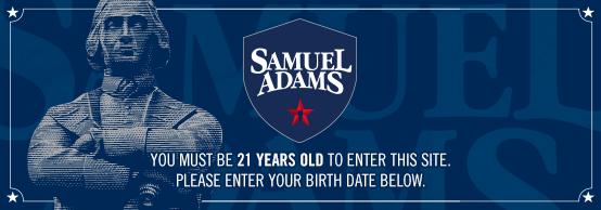 sam adams age gate shield